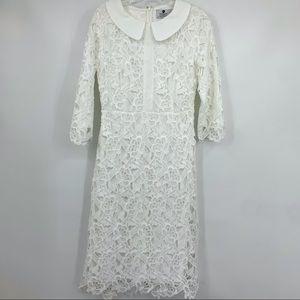 Dainty Jewells Dress Medium Modest Lace white